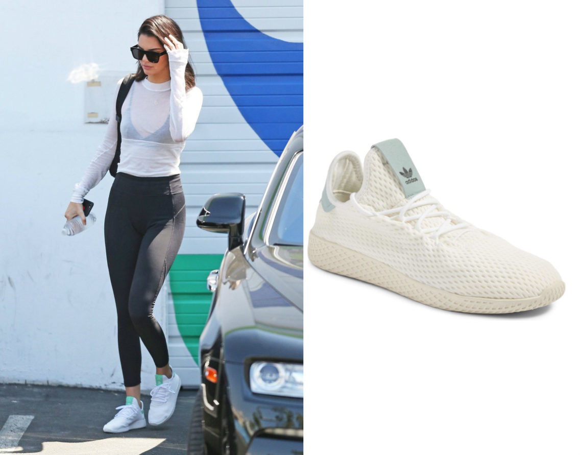 69fdb8681 Shoe Obsession  Kendall Jenner In Adidas x Pharrell Tennis Hu Sneakers